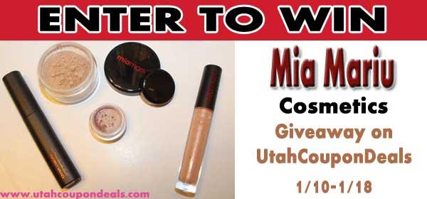 GIVEAWAY: Enter to win Mia Mariu Cosmetics ($58 value) Through 1/18