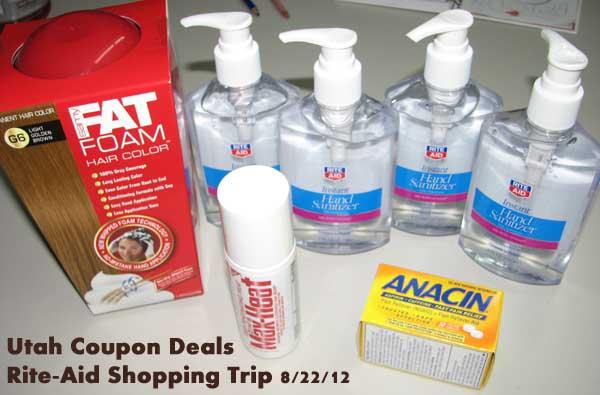 Rite-Aid Shopping Trip 8/22/12 = FREE + money maker!