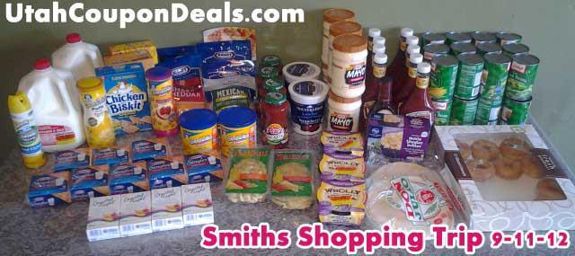 Smith's Shopping Trip 9/13/12 = 81% Savings!