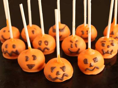 Halloween Pumpkin Cake Pops Recipe