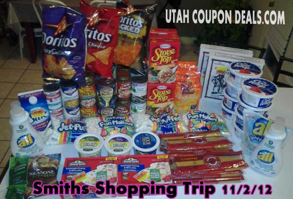 Smiths Shopping Trip 11/2/12 = 72% Savings! (Before: $192.93 – After: $54.64)