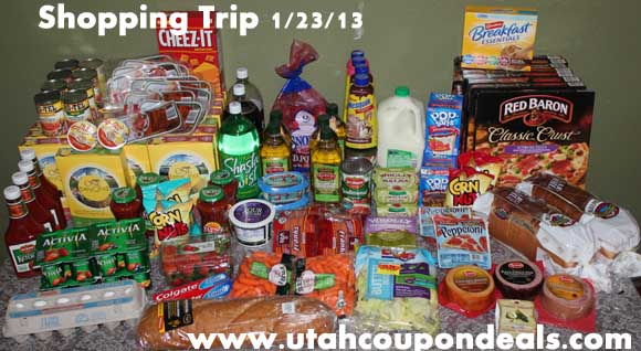 Coupon Shopping Trip | Total before $249.54, total AFTER = $80.30