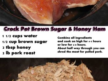 Slow Cooker Brown Sugar & Honey Ham Recipe