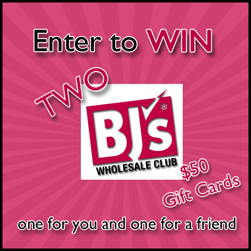 GIVEAWAY: Enter to win (2) $50 BJ's Wholesale Club gift cards (ends 6/7) #missiongiveaway