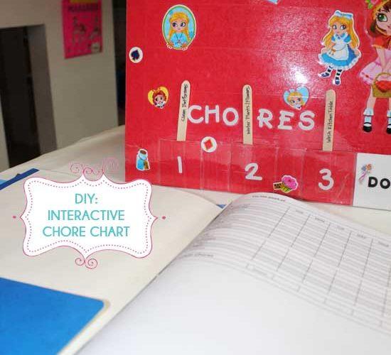DIY: Interactive Chore Chart and Organizer