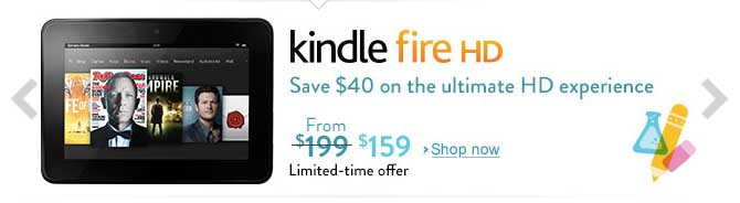 HOT – Save $40 on Kindle Fire HD (only $159)