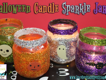 Halloween Candle Sparkle Jars