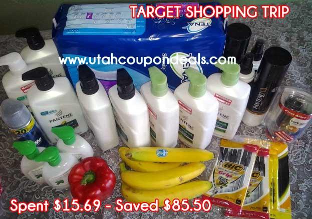 Target Shopping Trip 9/18/13 – Spent $15.69 – Saved $85.50