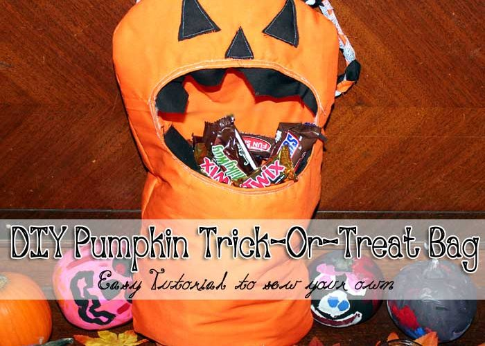 DIY: How to sew your own #Halloween Trick or Treat Bags