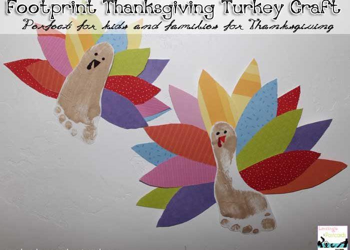 Footprint Thanksgiving Turkey Craft
