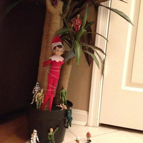 Elf on the Shelf Ideas – Army Hostage
