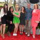 "Burbank, Calif. - World Premiere of ""The Pirate Fairy"" with film talent (L to R) Angela Bartys, Pamela Adlon, Tinker Bell, Mae Whitman, Carlos Ponce and Christina Hendricks."