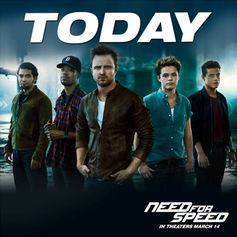 Need for Speed Movie in Theaters TODAY! #nfsmovie