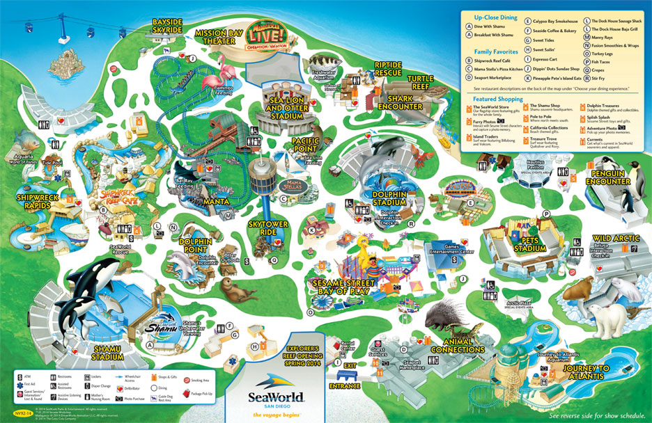 seaworld san diegos park map lovebugs and postcards