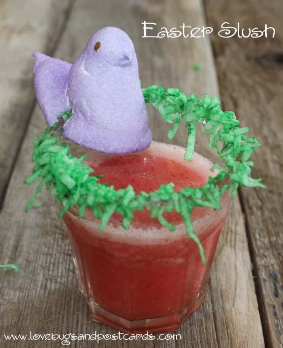 Easter Slush with Coconut Rim