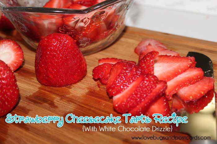 Strawberry Cheesecake Tarts Recipe with White Chocolate Drizzle