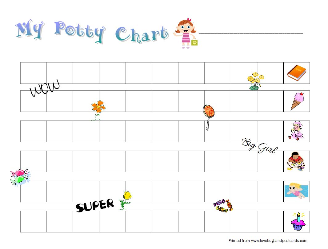 potty training tips and printable potty training chart