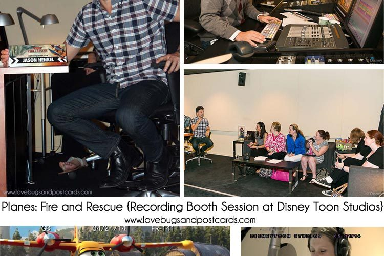 I was the voice of Dipper in Planes: Fire and Rescue {Recording Booth Session at Disney Toon Studios} #FireAndRescueEvent