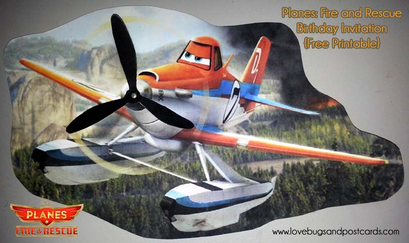 Planes: Fire and Rescue Birthday Invitation {Free Printable}