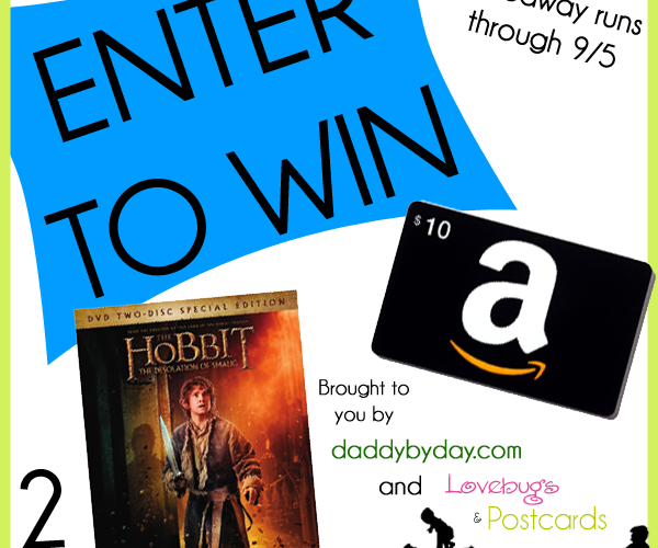 GIVEAWAY! Enter to win The Hobbit: The Desolation of Smaug DVD or a $10 Gift Card! (2 winners)