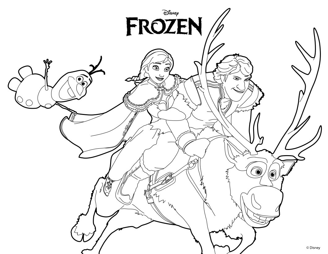 Frozen Coloring Pages Olaf And Sven : Free coloring pages of olaf sven