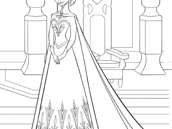 FROZEN Elsa Coloring Page
