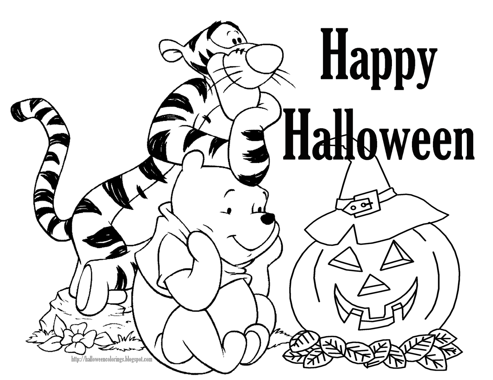printable coloring pages halloween | Free Disney Halloween Coloring Pages - Lovebugs and Postcards