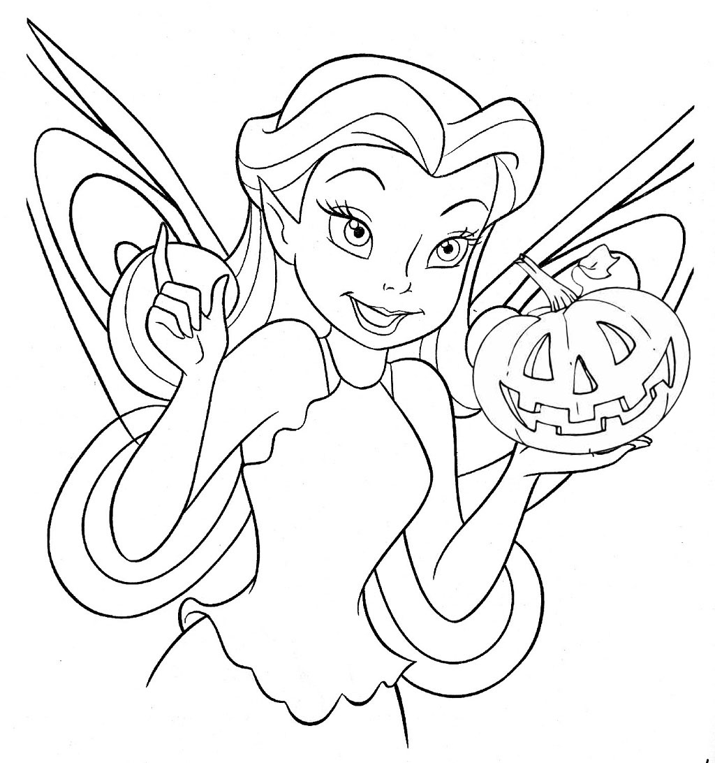 Tinkerbell  Free Disney Halloween Coloring Pages  Lovebugs and
