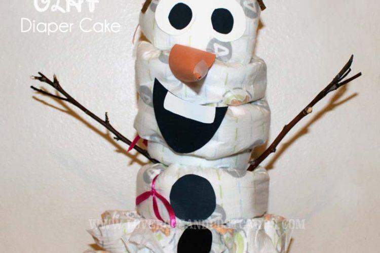 Disney's FROZEN Olaf Diaper Cake