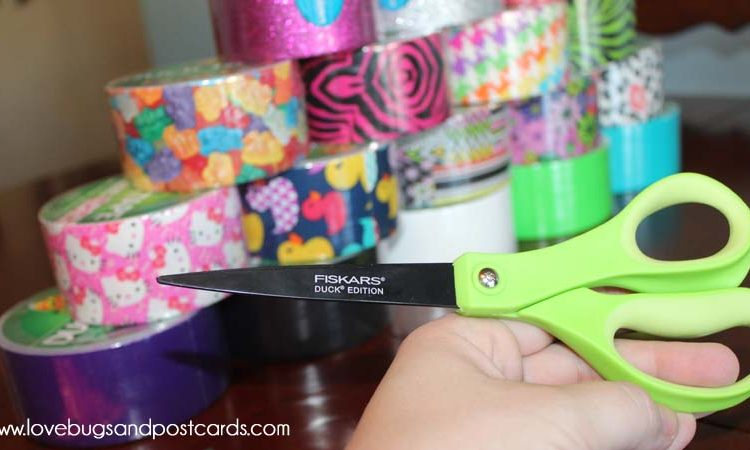 Fiskars Duck Edition Scissors + Duck Tape Crafts