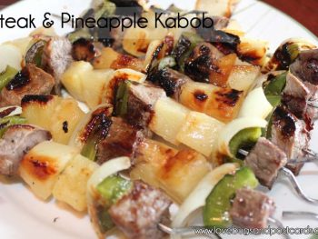 Steak & Pineapple Kabobs Recipe