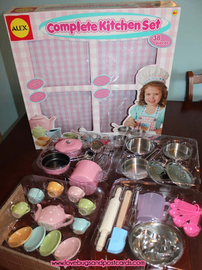 alex toys complete kitchen set lovebugs and postcards