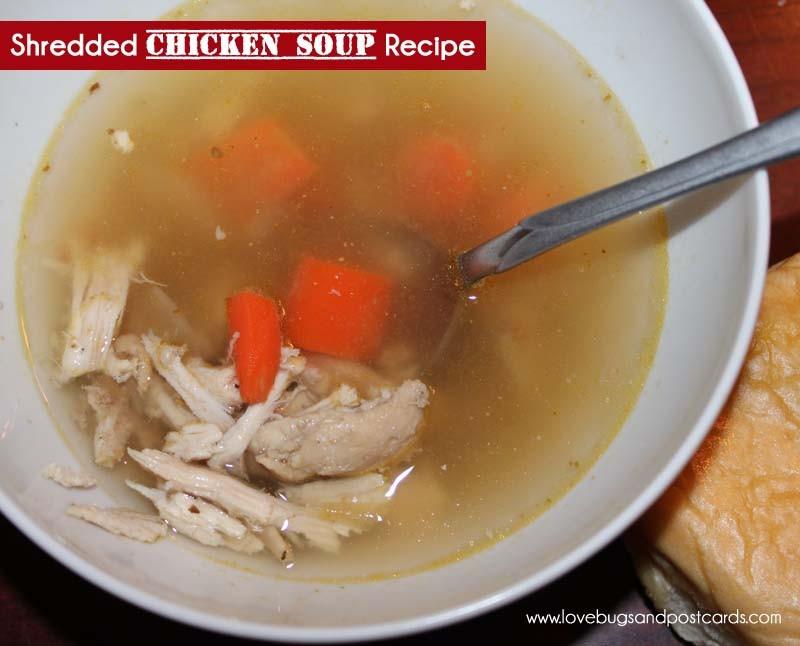 Shredded Chicken Soup Recipe - 30 of the best soup recipes