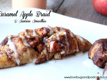 Caramel Apple Braid {made with cinnamon rolls}