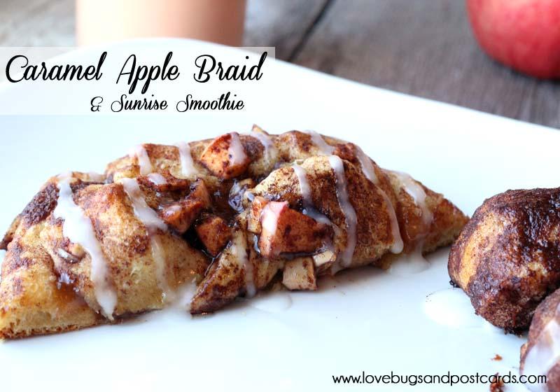 Caramel Apple Braid {made with cinnamon rolls}