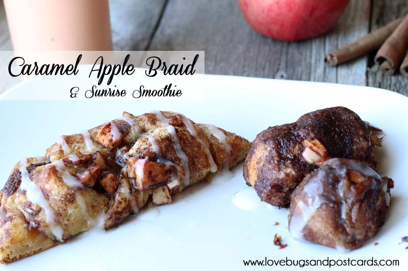 7 easy meal ideas (family-friendly) - Caramel Apple Braid Recipe