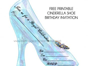 Cinderella Birthday Invitation Shoe