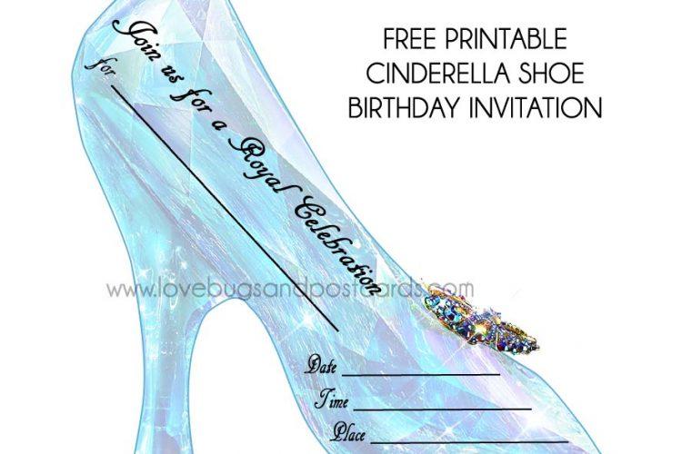 Cinderella Birthday Invitations {free printables} + Party Ideas #Cinderella