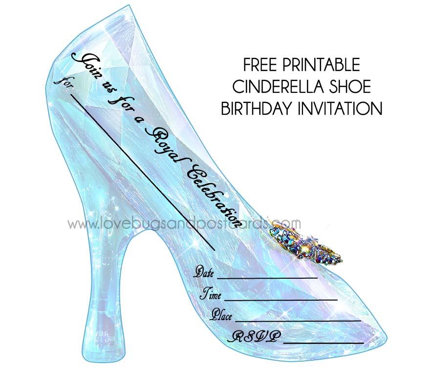 cinderella birthday invitations {free printables}  party ideas, Birthday invitations