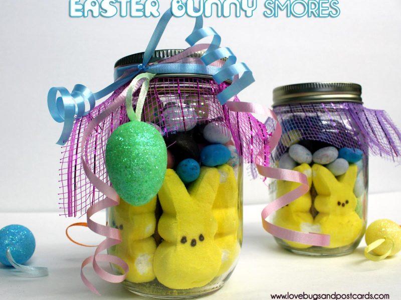 Easter Bunny Smores {in a mason jar}