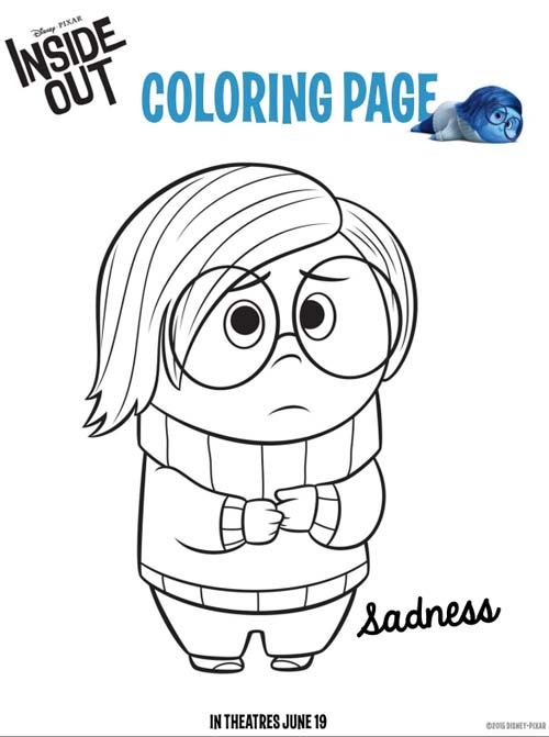Disney Pixar Inside Out Coloring Pages And Activity Sheets