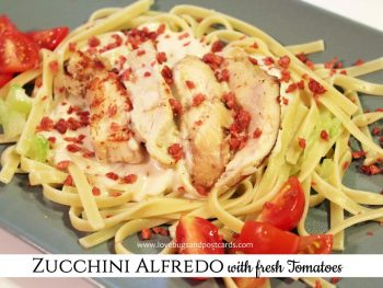 Zucchini Alfredo with Tyson® Grilled and Ready® Chicken Breast Strips