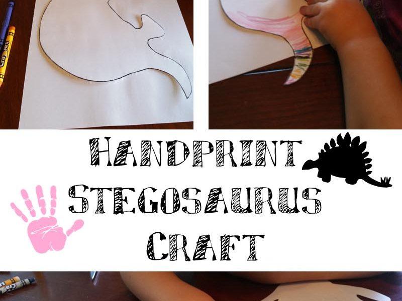 Handprint Stegosaurus Craft