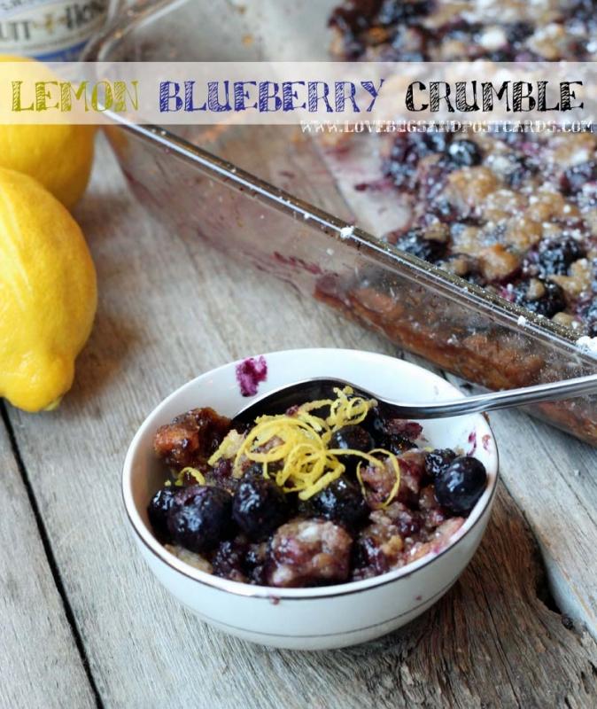 7 easy meal ideas (family-friendly) - Lemon Blueberry Crumble Recipe