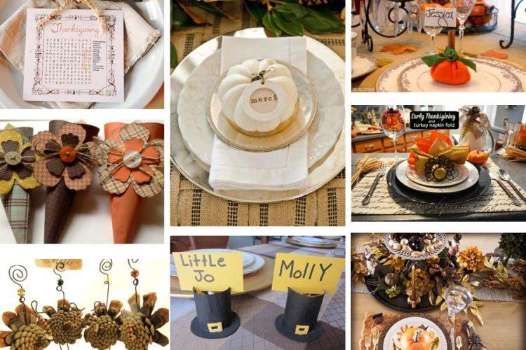 15+ Thanksgiving Table Settings