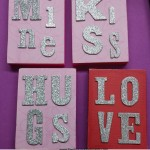Valentine Wood Blocks DIY