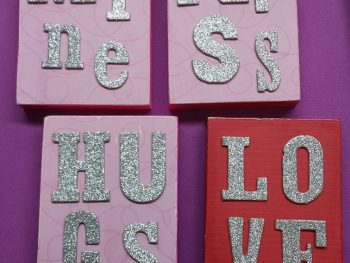 DIY Valentine's Wood Blocks