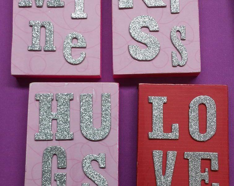 DIY Valentine's Wood Blocks