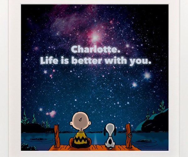 Peanuts Personalized Art Print Giveaway #PeanutsInsiders