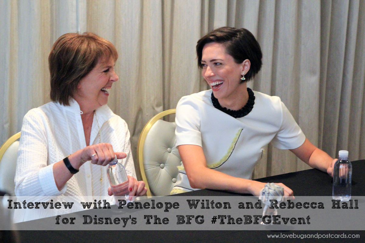 Interview with Penelope Wilton and Rebecca Hall for Disney's The BFG #TheBFGEvent